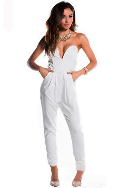 a3c9dcb7242 Free shipping 2014 New Fashion women jumpsuit Sexy Black Fitted V Neck  Sleeveless Harem Pants Jumpsuit LC6584 on Aliexpress.com