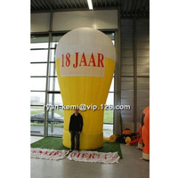 Free shipping 5m giant inflatable beer glass with CE UL blower large inflatable beer mug cup balloon