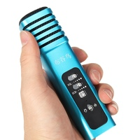Handheld KTV Microphone Portable Karaoke Microphone Mobile Speaker Player Headphone With USB Audio Cable Case For