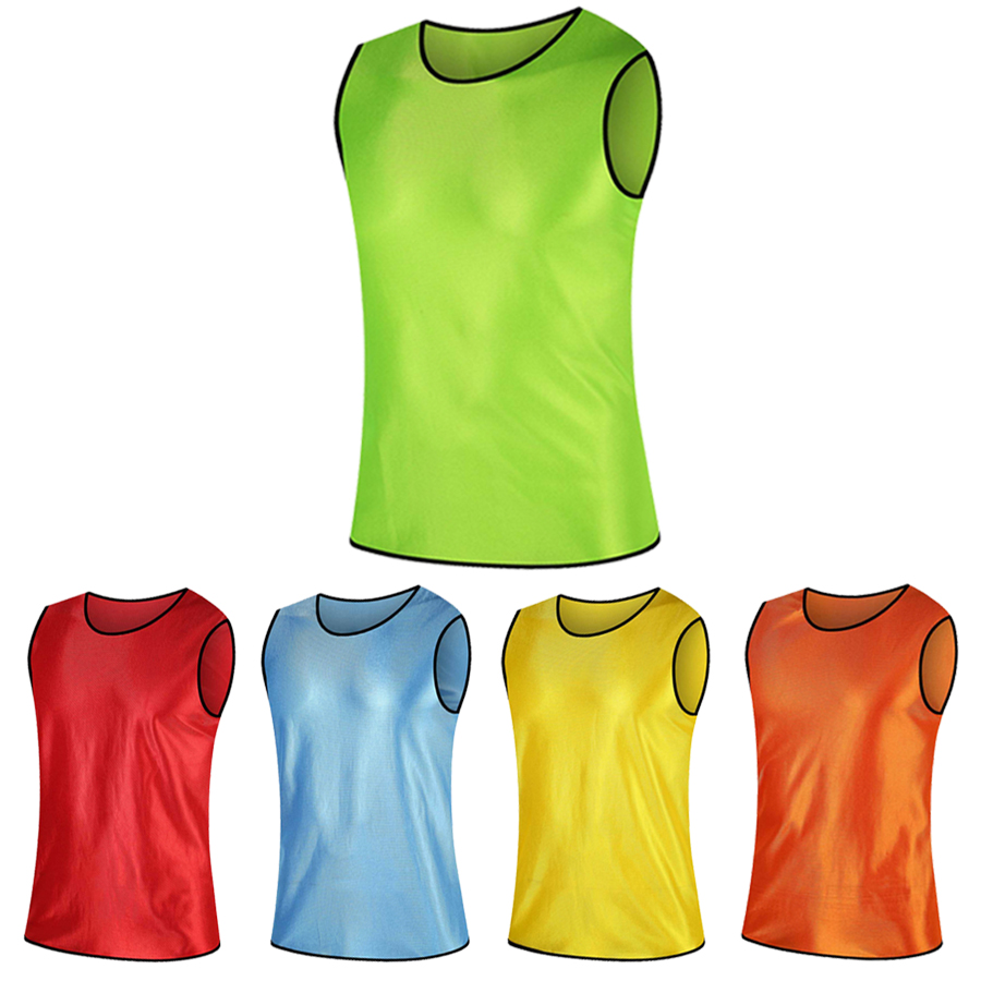 2018 nuevo sin mangas hombres niños Fútbol jerseys de entrenamiento traje  de fútbol contra el chaleco del chaleco agrupación Jersey DIY impresión ... 7bf7f11d85e8e