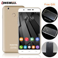 Caso libre Oukitel U7 Plus 4G/U7 Pro MT6737 Quad Core Huella Digital Del Teléfono Celular Smartphone 2G + 16G 13MP Android6.0 teléfono móvil