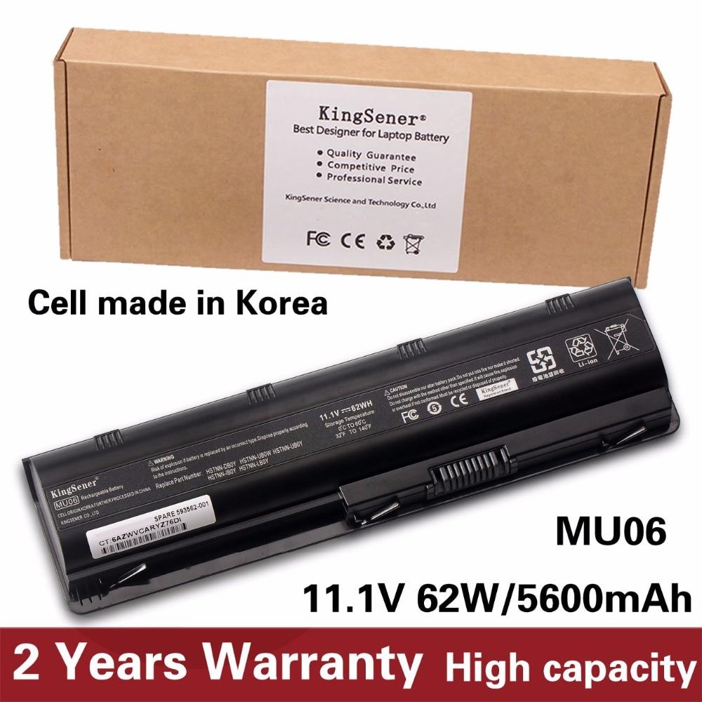 Корея сотовый новый ноутбук Батарея для hp Pavilion G4 G6 G7 G32 G42 G56 G62 G72 CQ32 CQ42 CQ43 CQ62 CQ56 CQ72 DM4 MU06 593553-001 ...
