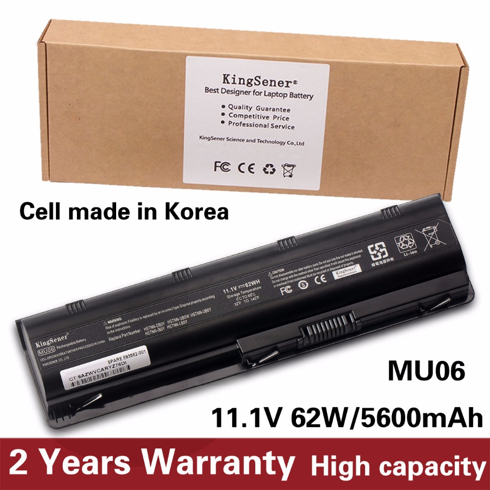 Korea Cell New Laptop Battery for HP Pavilion G4 G6 G7 G32 G42 G56 G62 G72 CQ32 CQ42 CQ43 CQ62 CQ56 CQ72 DM4 MU06 593553-001 8 cell org laptop battery for nx8420 361909 001 361909 002