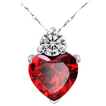 OTOKY Hot Sale 1PC Natural Red Garnet Heart Crystal Pendant Necklace Valentine For Gift Dropshipping May22(China)