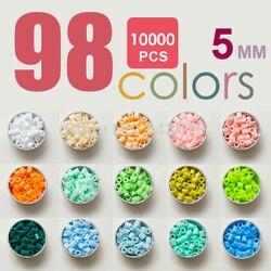 10,000pcs 5mm hama beads (98colors+1 big template+5 iron papers+2 tweezers) fuse/perler beads diy educational toys kids craft