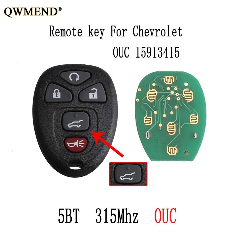 QWMEND 315Mhz Remote Key For GMC Acadia Savana Sierra