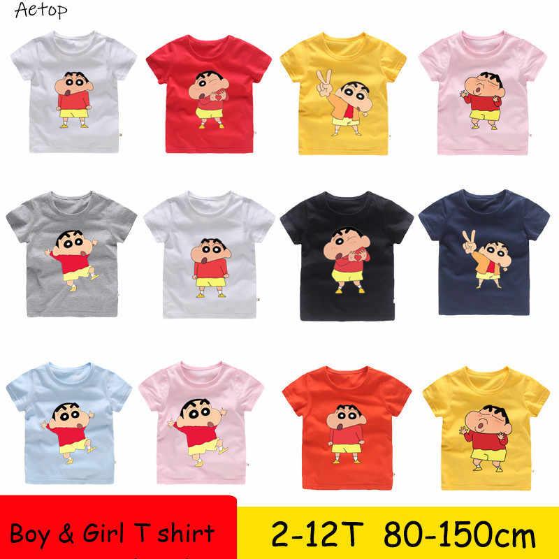 Одежда Crayon shin-chan футболка для подростков из японского аниме футболки Crayon shin-chan Топ, детская одежда летняя одежда b904