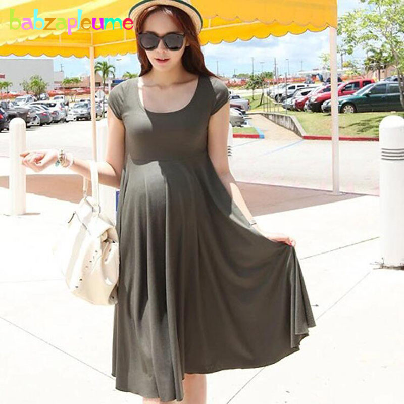 Summer Pregnancy Dresses Maternity Clothes For Pregnant Women Clothing Sexy Costumes Large Size Loose Premaman Dress BC1232-1