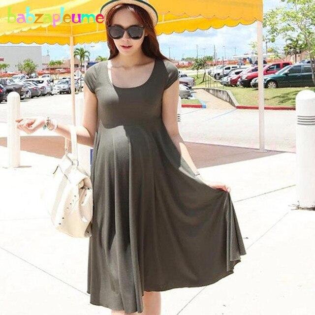 034b6cabf Verano embarazo vestidos de maternidad ropa para mujeres embarazadas ropa trajes  atractivos tamaño grande Premaman vestido
