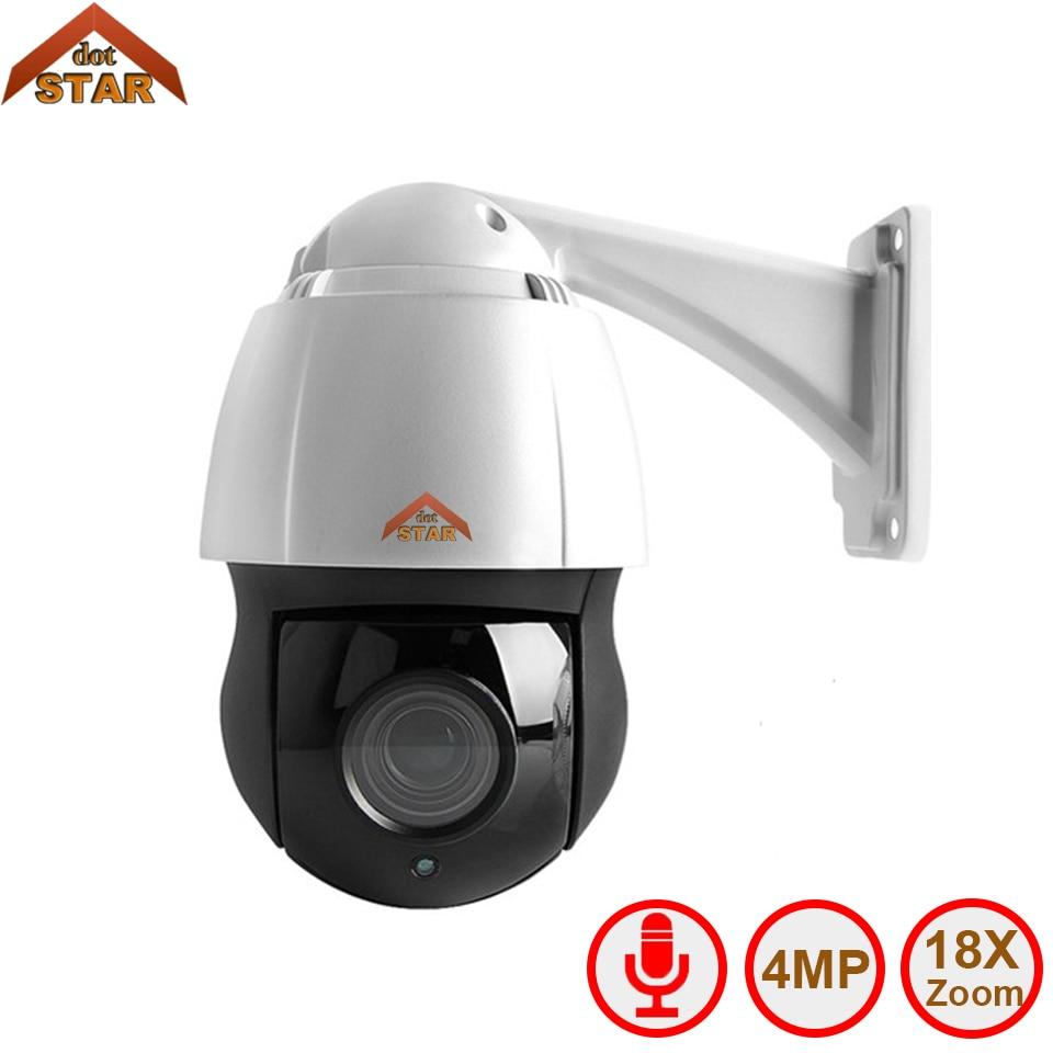 Caméra dôme de vitesse Stardot PTZ IP CCTV 4MP Onvif 18X Zoom P2P H.264 120 m IR Vision nocturne étanche dôme extérieur caméra IP PTZ