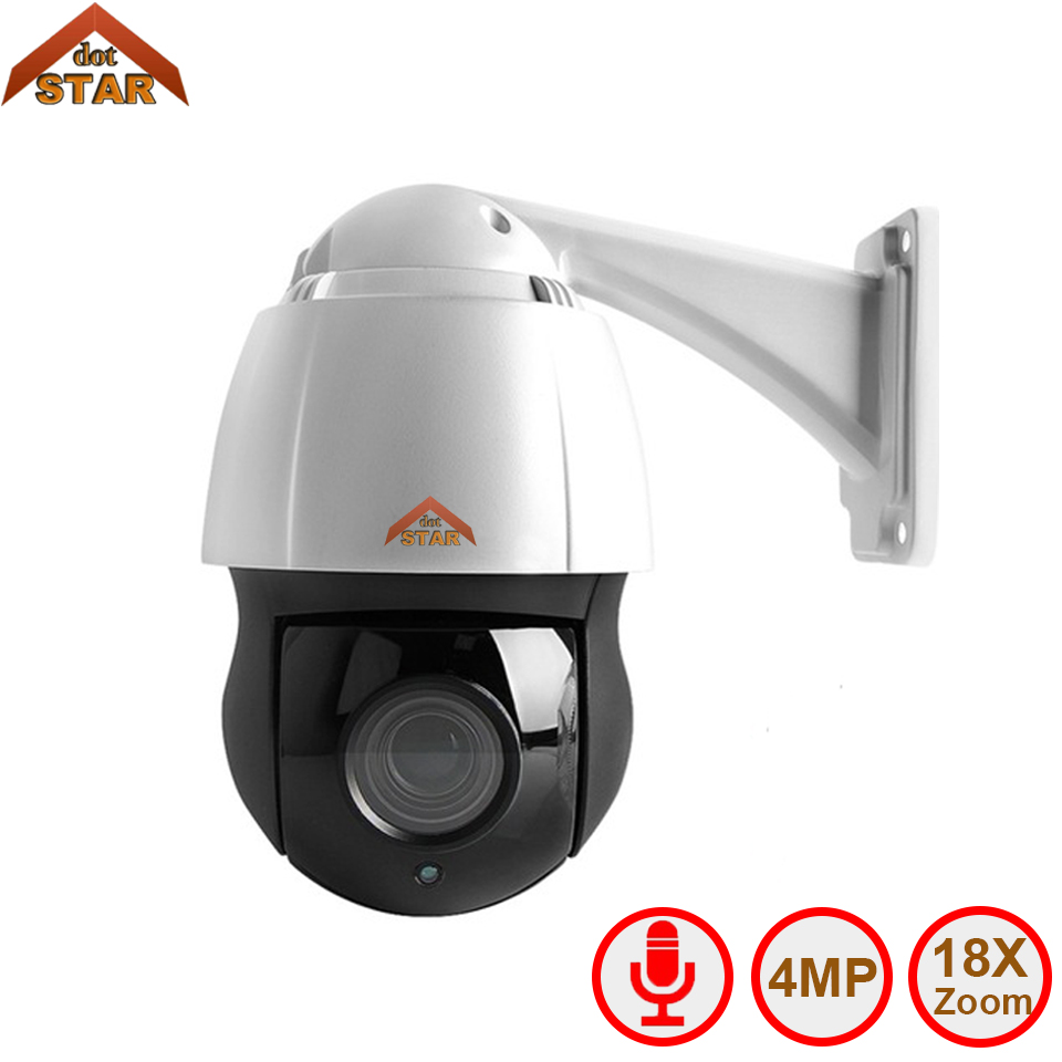 Stardot PTZ Speed Dome Camera IP CCTV 4MP Onvif 18X Zoom P2P H.264 120m IR Night Vision Waterproof Outdoor Dome PTZ IP Camera