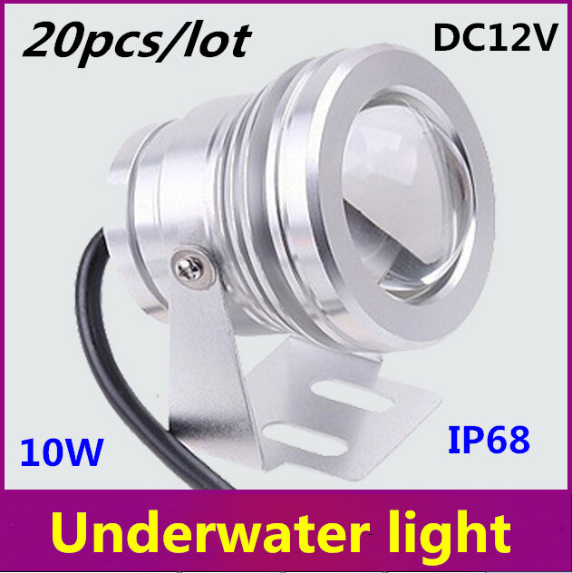 New 10W Underwater LED Flood Wash Light Outdoor Waterproof IP68 Swimming Pool Pond Fountain Lamp Pure White Warm White DC12V