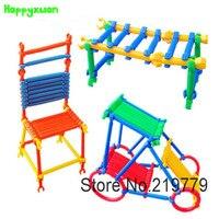 180 unidades/pacote Crianças brinquedos de Plástico Vara Inteligente crianças Educacionais Blocos de Construção menina Conjuntos de Kits para a Criatividade das Crianças