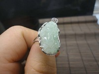Genuine a goods yu Pixiu ring 925 silver Pixiu yu Ring money Evil to protect the peace of men and women ring/