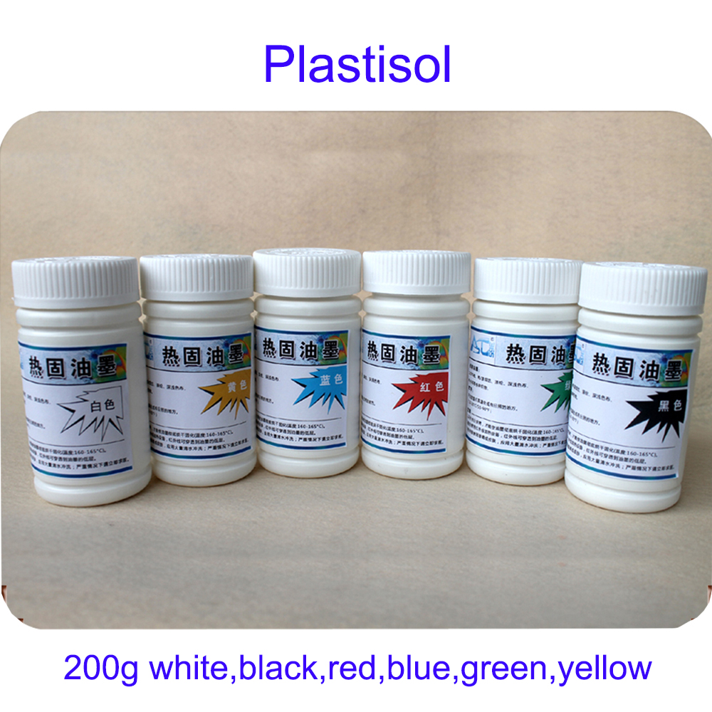 200g One Bottle Environmental Plastisol Ink For Screen Printing Press And Equipment 200G/Bottle