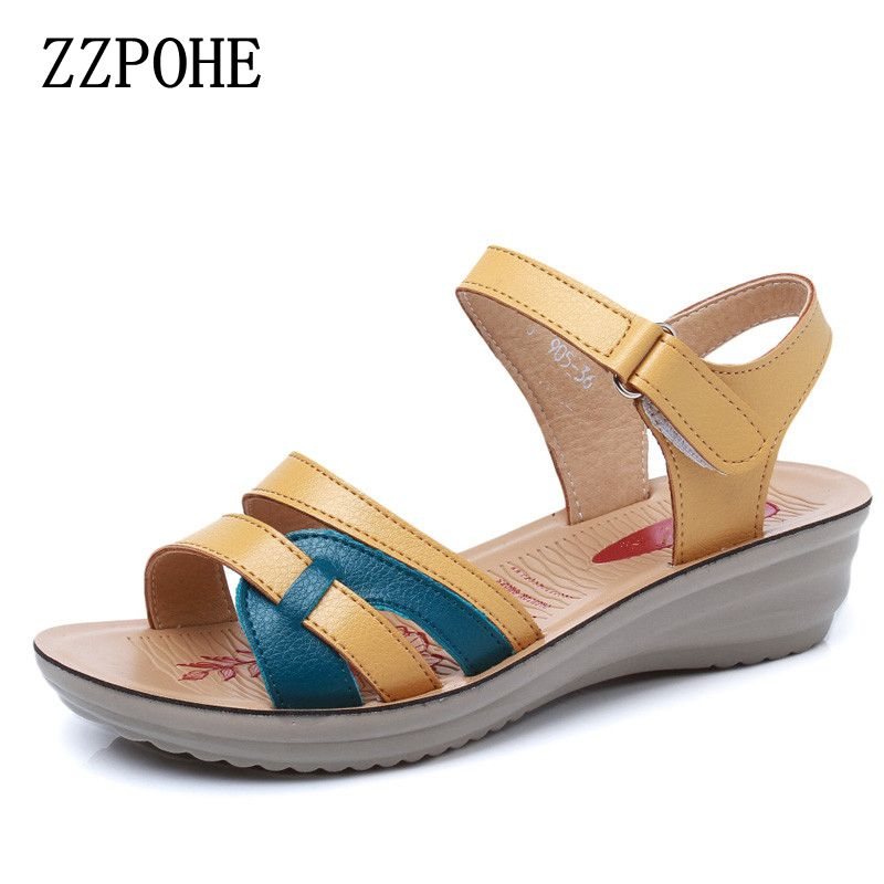 ZZPOHE Summer new mother sandals soft soles comfortable ...