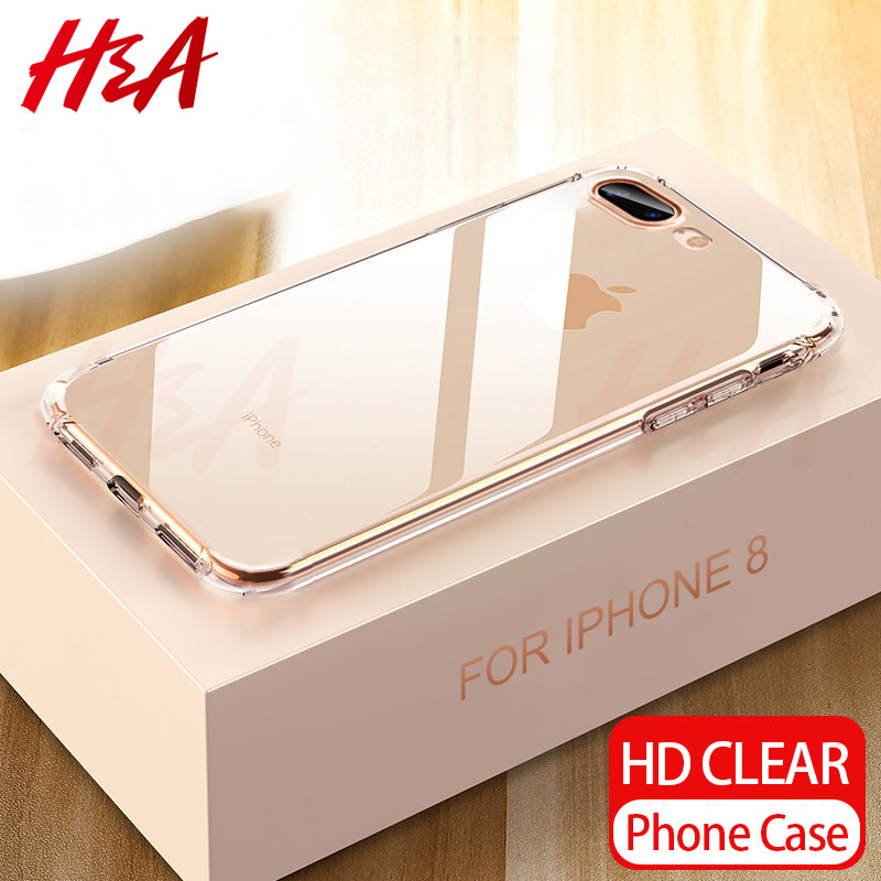 H&A Ultra Thin Transparent Case For Apple IPhone 8 7 Plus 6 6s Plus Se Cases Clear Soft TPU Cover For IPhone 5 5s Se Phone Case