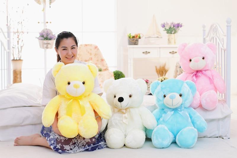 Knuffel Met Licht : Knipperende knuffel gevuld led licht teddybeer kid toy leuke