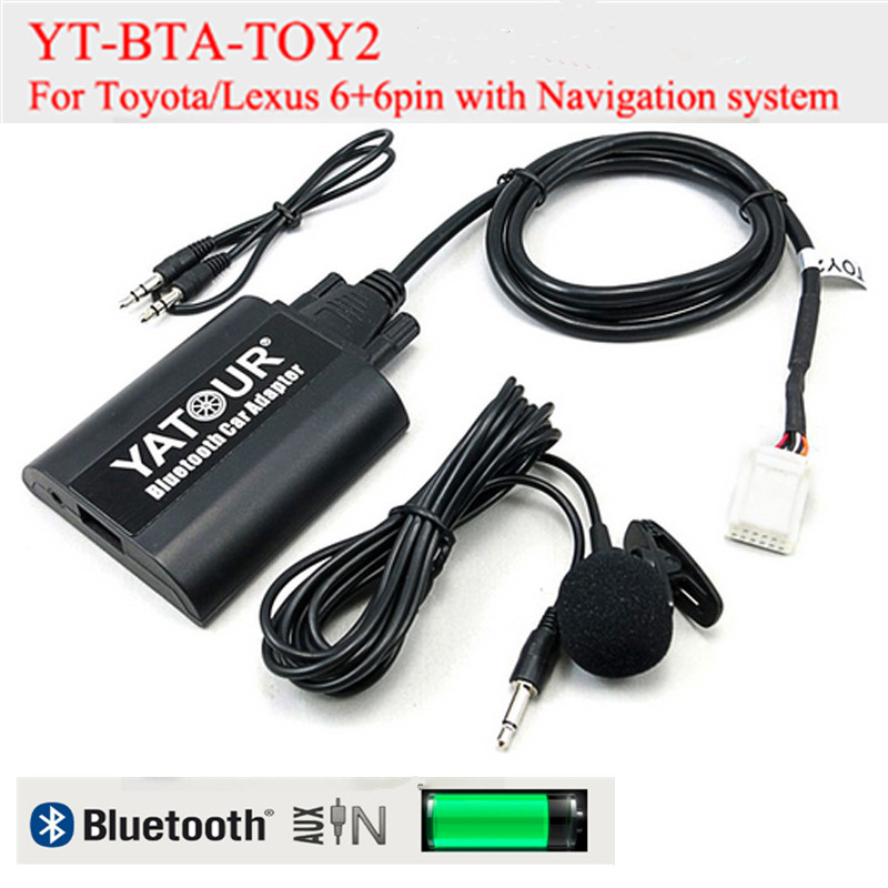 Yatour BTA Car Bluetooth Adapter Kit for Lexus Toyota 6+6pin radioss GX470 LS460 LX570 RX300 RX300 RX330 RX350 RX400H SC430 bt 84040 60052 power window master switch for land cruiser prado lexus rx330 gx470 rx350 rx400h 2003 2009