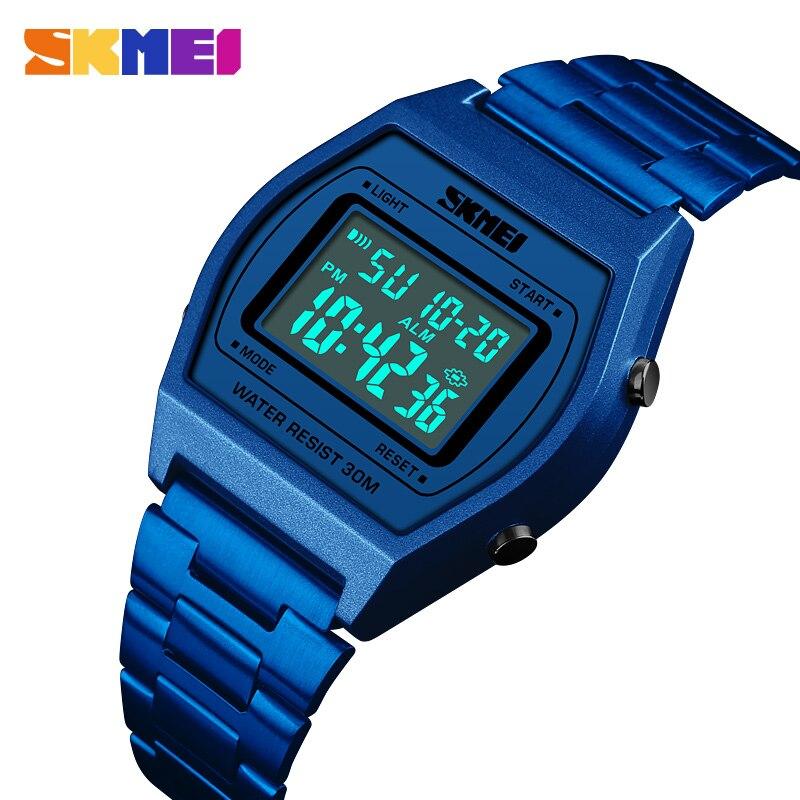 SKMEI Luxury Brand Men's Sports Watches Waterproof Rose Gold Men Wrist Watch Electronic LED Digital Male Watch Relogio Masculino