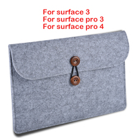 New Wool Felt Laptop Sleeve Bag Tablet Case Cover For Microsoft Surface 3 Pro3 Pro4 Built