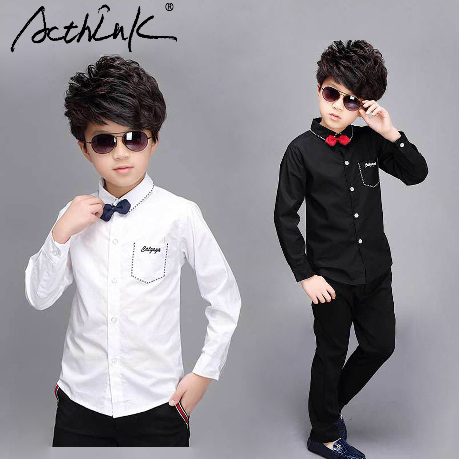 ActhInK New Big Boys Wedding Shirts with Bowtie Teenage Boys Black&White Formal Shirts Pockets Children School Shirts 16 YearsActhInK New Big Boys Wedding Shirts with Bowtie Teenage Boys Black&White Formal Shirts Pockets Children School Shirts 16 Years