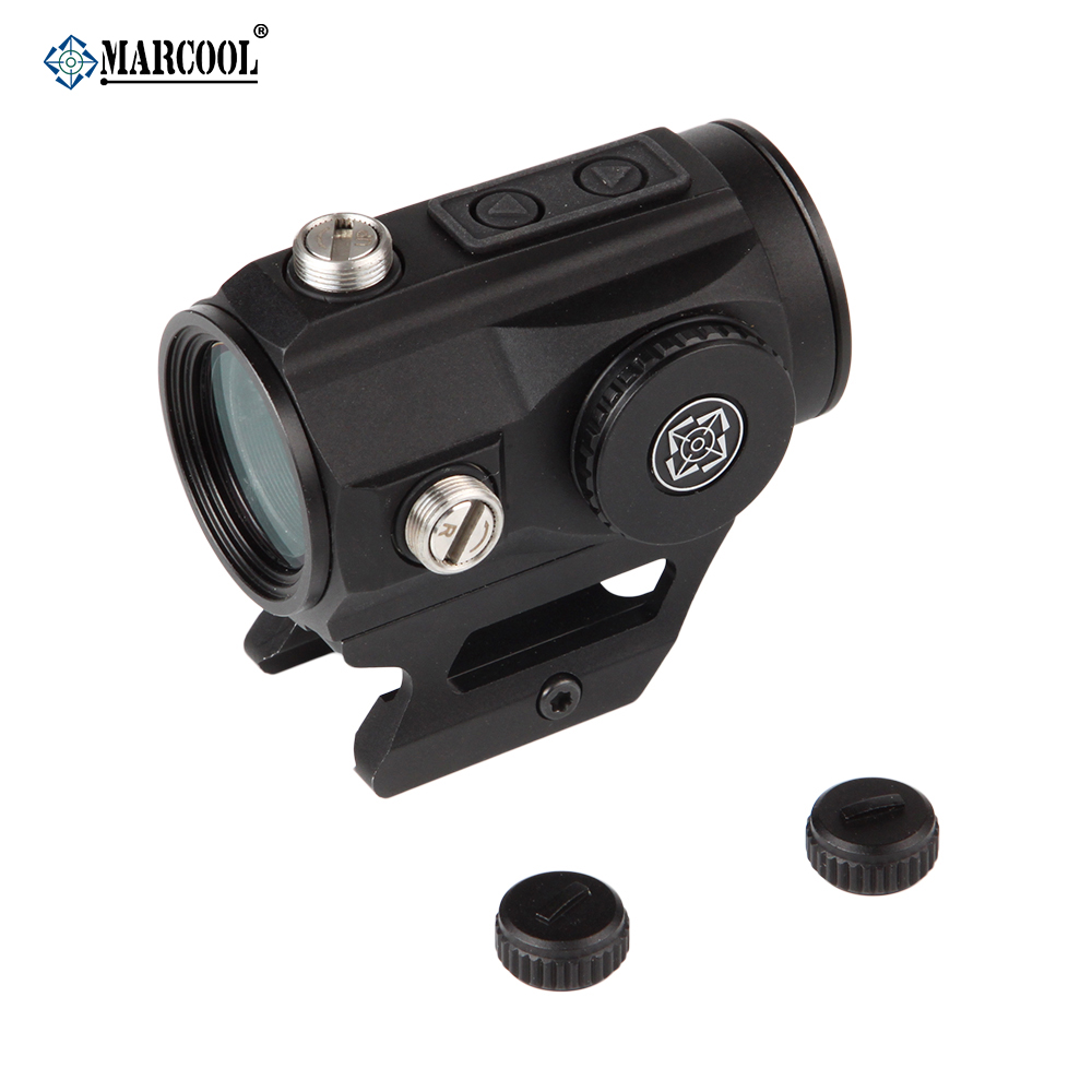 MARCOOL 20mm Rail 1x25 Optical Sight Tactical Scope Collimator Sight For .223 .308