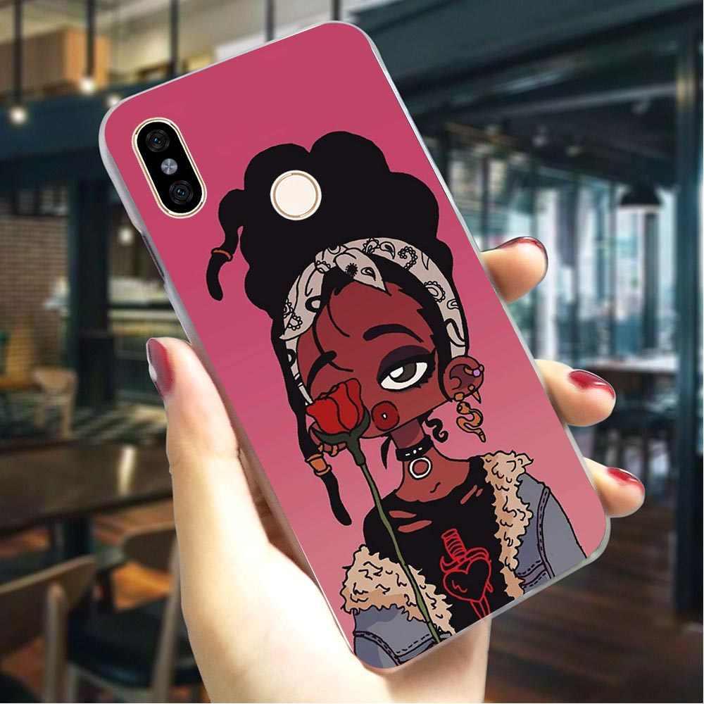 Piękno Afro Puffs sztywne etui do Redmi Note5 5Pro moda etui na telefon xiaomi Redmi 6 Pro Note3 uwaga 4X Note5 Note6 przypadki powrót
