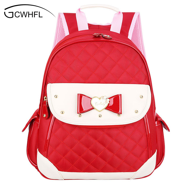 New 2017 Cute Little Girl School Bag Princess Small Backpacks For Girls Children Waterproof Bookbags Mochilas Escolares Infantis In Bags From Luggage