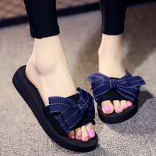 2018 New Arrival Flats Women Shoes Fashion Butterfly-knot Beach Open Toe Slides Slippers