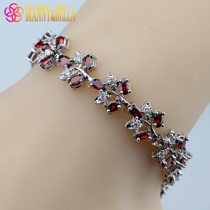 Женский серебряный браслет SL65, красный, гранатовый браслет, ювелирное изделие для здоровья|jewelry drill|bracelet thomasbracelet jewelry | АлиЭкспресс