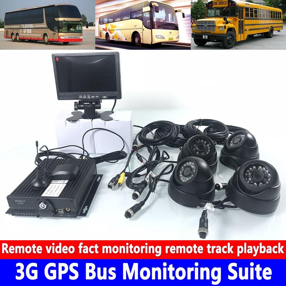 Otomobiller ve Motosikletler'ten Araba Çok açılı Kamera'de Uzaktan video gerçek izleme uzaktan izleme oynatma 3G GPS veri yolu izleme kiti okul otobüsü/yolcu araba/off  road araç title=