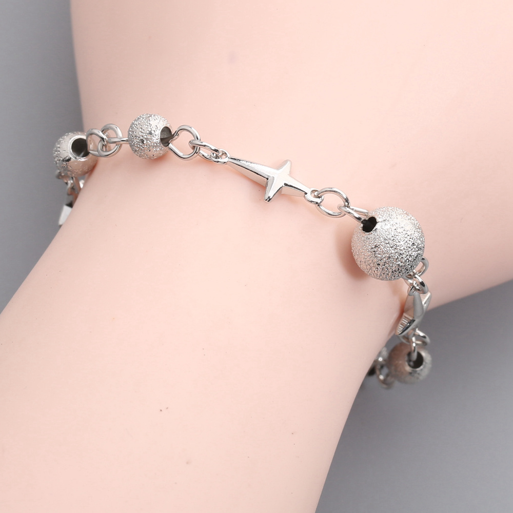 Charismatic Fadeless No allergy Silver Pearl Bracelet BY0064 airborne pollen allergy