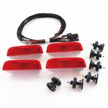 ZUCZUG Door Plate Warning Halogen Light Lamp + Cable Harness + Clip For VW EOS CC Tiguan Jetta MK5 Golf Passat CC B6 3AD 947 411