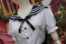 New Anime Girls Lolita Dress Sexy Sailor Costumes Halloween Party Ball Gown Cosplay Costume Bowknot Dress Uniform Free Shipping