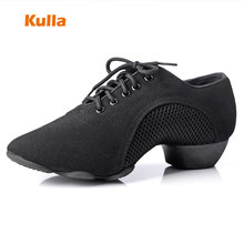 Adult Latin Dance Shoes Cloth Low-heeled Ballroom Dancing Shoes For Women New Listing Ladies Jazz Modern Dance Shoes Soft Sole