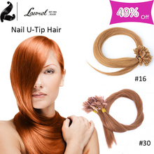 Hot Sale 8a Grade 5 Colors Brown Brazilian Hair Extensions Nail u Tip 100strands Brazilian Human Hair With Free Shipping 16-24″