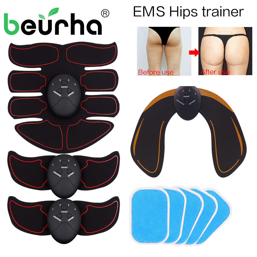 Smart EMS Hips Trainer Electric Muscle Stimulator Wireless Buttocks Abdominal ABS Stimulator Fitness Body Slimming Massager New ems hips trainer