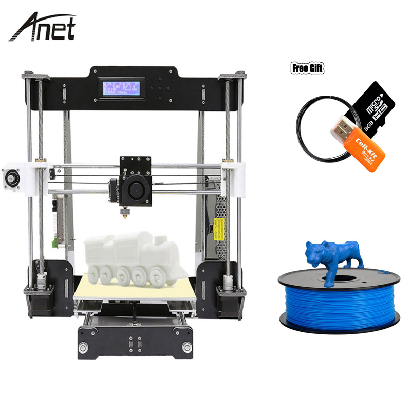 Célèbre Usine Vente Anet A8 A6 E10 E12 DIY 3D Imprimante Kit Normal et Auto Nivellement 3D Imprimante En Aluminium Maison et Bureau Utilisé