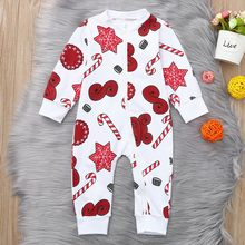 Christmas Toddler Newborn Baby Romper Cartoon Snowflake Zipper Romper Xmas Jumpsuit baby clothes baby girl romper New(China)