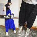 Детские падение промежность шаровары провисания брюки дети корейский стиль конфеты цвет моды брюки дети супер мягкий детская одежда