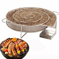 Stainless Steel Wood Chips Grill Basket Smoker Barbecue Cold Smoking Generator Tray Outdoor BBQ Grill Cooking Tools Accessories