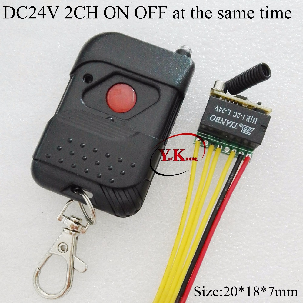 DPDT Relay Remote Switch 2CH ON OFF Remote Switch 24V Contact Wireless Switch NO COM NC 2A Relay 433.92MHZ ASK Switching RX TX relay remote controller dc4v 4 5v 5v 6v 7 4v 9v 12v wireless relay switch 10a normally open close power remote on off rf rx tx