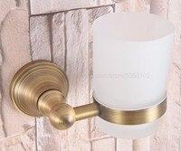 Copa do Copo & Titulares Copo Escova de Dentes Titular Antique Brass Wall Mounted Acessórios Do Banheiro Decoração Da Parede zba163|Suporte p/ secador|   -