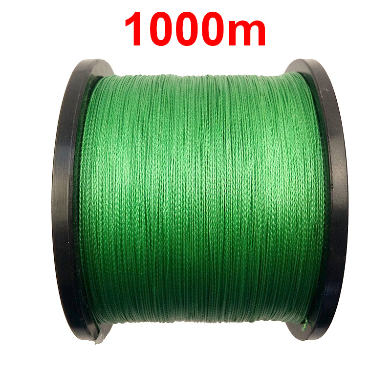 1PC 1000m 1100 Yards 100% PE Braided Fishing Line Green 4 Strands Braid Multifilament Super Strong Fishing Lines 15LB-100LB 500m 8x modern fishing brand super strong japan multifilament pe braided fishing line 8 strands 20lb 30lb 40lb 50lb 80lb 100lb