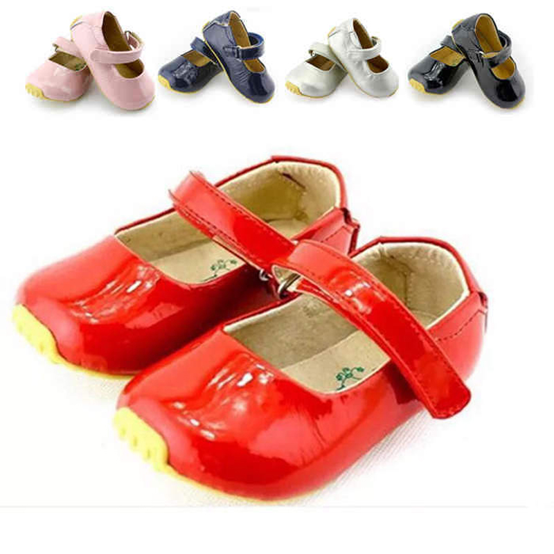 Tipsietter Vårhöststil Lace Kids Girls Shoes Barns Långa Mouth Leather Fashion Baby Casual Cuteshoe Comfy Nmd