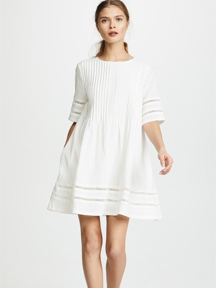 Delle donne Del Vestito Allentato Vacanza Vestiti di Cotone Corto Stile Europeo e Americano delle Donne Jupe-in Abiti da Abbigliamento da donna su  Gruppo 1