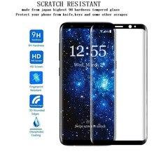9H 3D celoplošná zakrivená fólia z tvrdeného skla pre Samsung Galaxy S8 S8 Plus