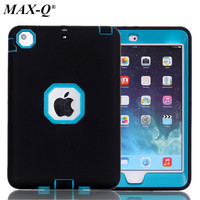 For IPad Mini 2 New 3 In 1 Military Shockproof Heavy Duty Stand Case Cover PC