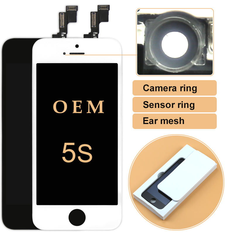 For iPhone 5S 5C 5 LCD 10pcs OEM Quality LCD Display Touch Screen Digitizer Assembly with